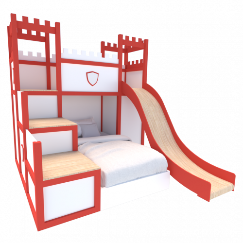 Castle Bed Red