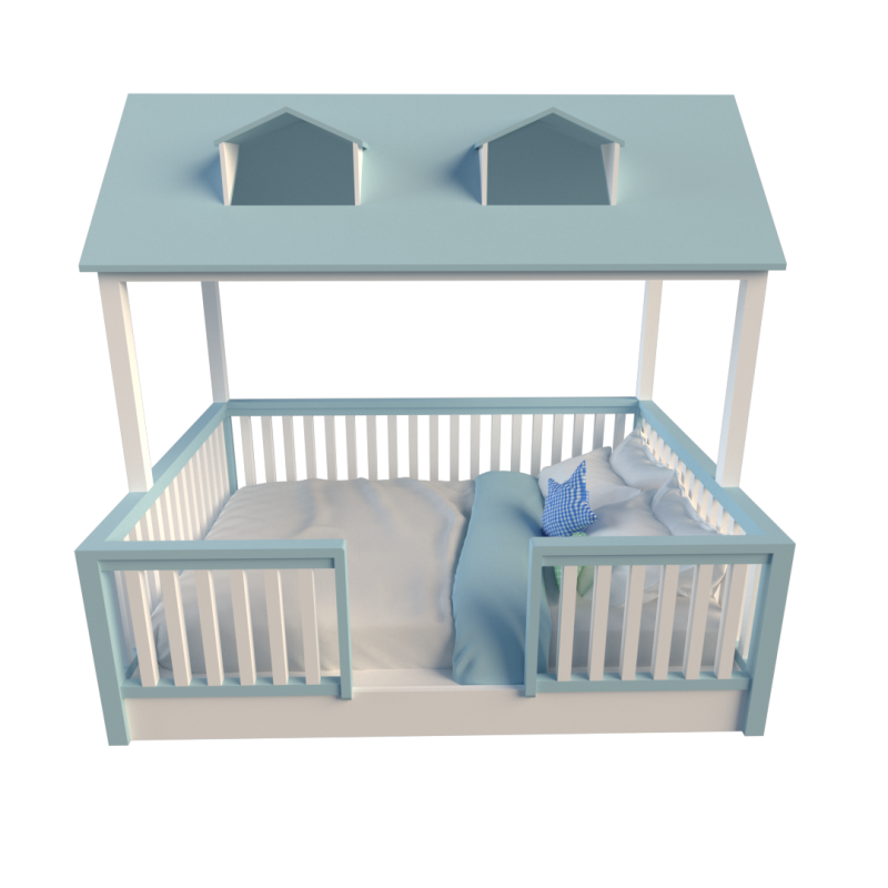 House Bed Blue