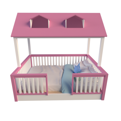 House Bed Pink